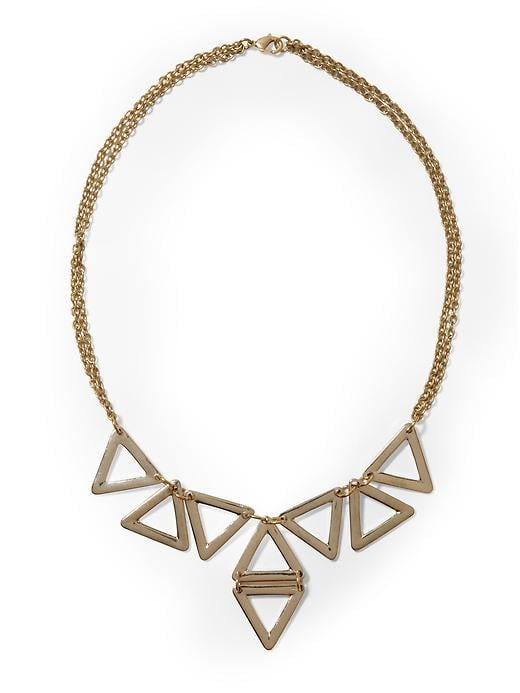 Dress up a silky black maxi dress or even a basic white tank top with this Hive & Honey triangle link necklace ($14, originally $22).