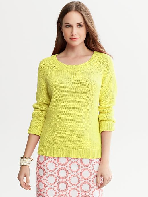 This bright Banana Republic Milly Collection Crew-Neck Pullover ($70) will look perfect with a pair of white jeans.