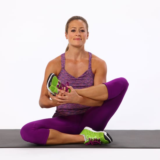 Seated Leg Cradle Stretch For Glutes