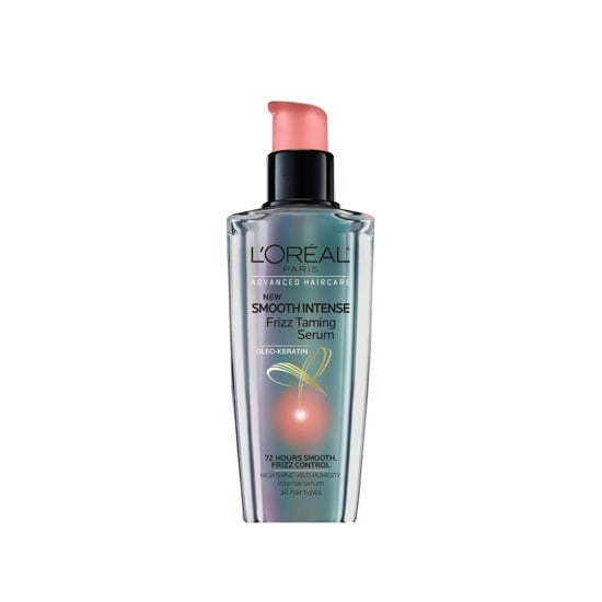 L'Oreal Smooth Intense Frizz Taming Serum ($7) is made for even the most out of control strands. The keratin-infused formula tames, smooths, and protects for multiple days of frizz control.