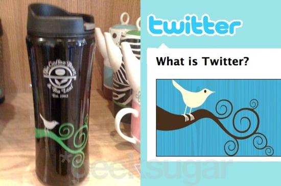 Twitter Bird Logo Spotted on Coffee Bean & Tea Leaf Mug