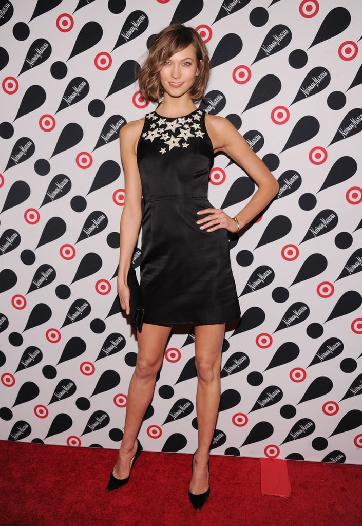 Karlie Kloss struck a pose at the Target and Neiman Marcus Holiday Collection in NYC.