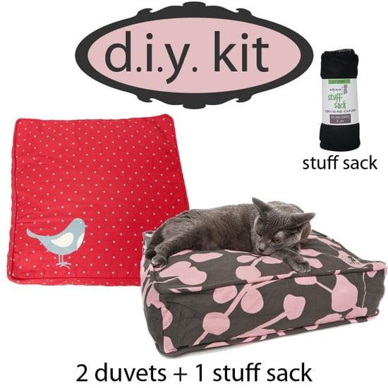 diy kit, romeo & juliet, square (2 cat duvets+1 stuff sack — $50)