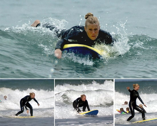Gwyneth Goes Surfing