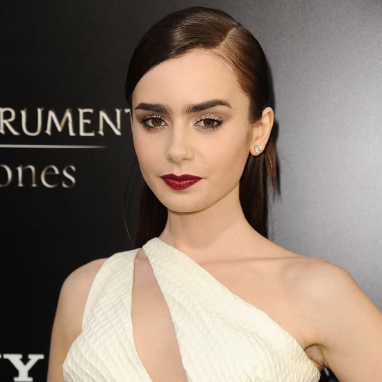 Lily Collins Hair Mortal Instruments City of Bones Premiere