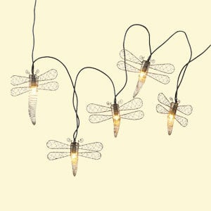 Copper Dragonfly String Lights