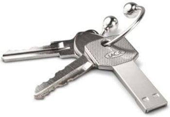 The LaCie Iamkey 4GB Flash Drive Keyring