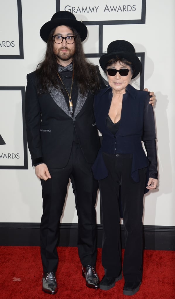 Yoko Ono had her son, Sean Lennon, as her date to the Grammys.