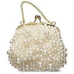 Banana Republic Pearl Beaded Night Clutch Purse