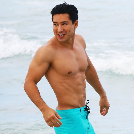 Shirtless Mario Lopez With Wife in Miami Beach | Pictures