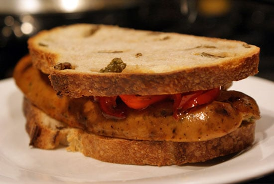 Sugar Shout Out: The Grilled Sausage on Olive Bread 'Wich