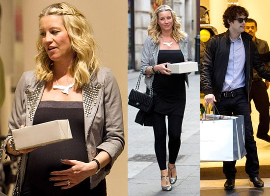 Photos of Pregnant Denise Van Outen Shopping With Lee Mead For Baby Things at Mamas and Papas