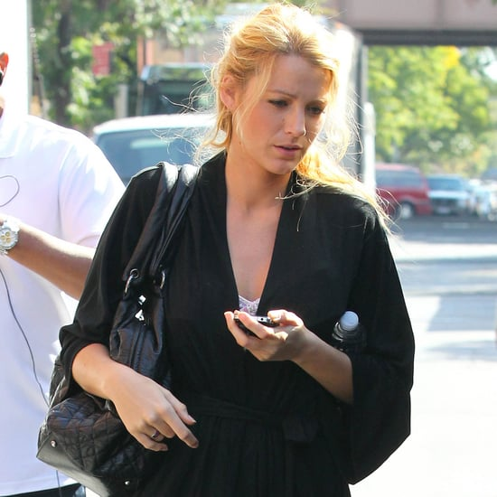 Blake Lively in Uggs on Gossip Girl Set Pictures