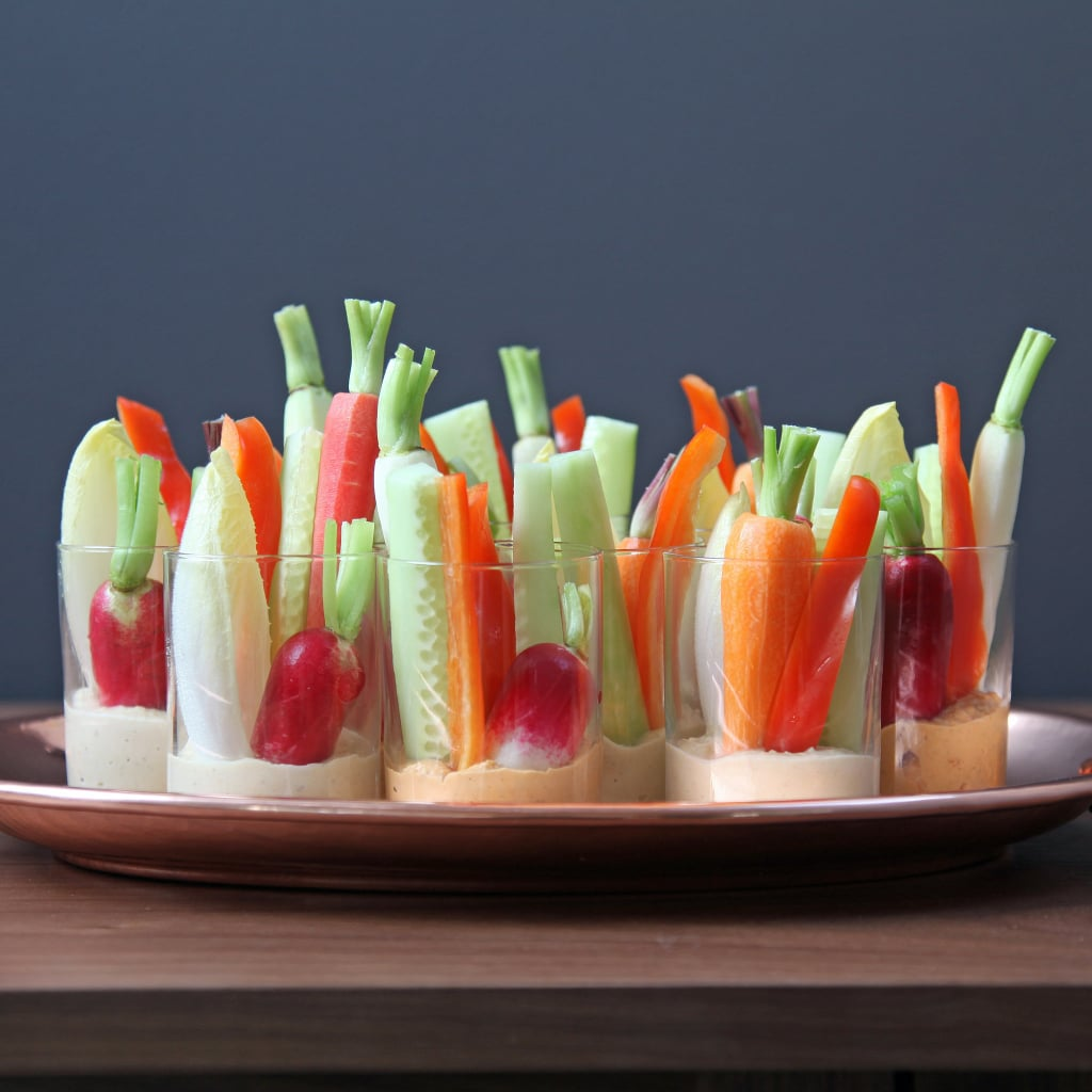 Hummus and Crudités Shots
