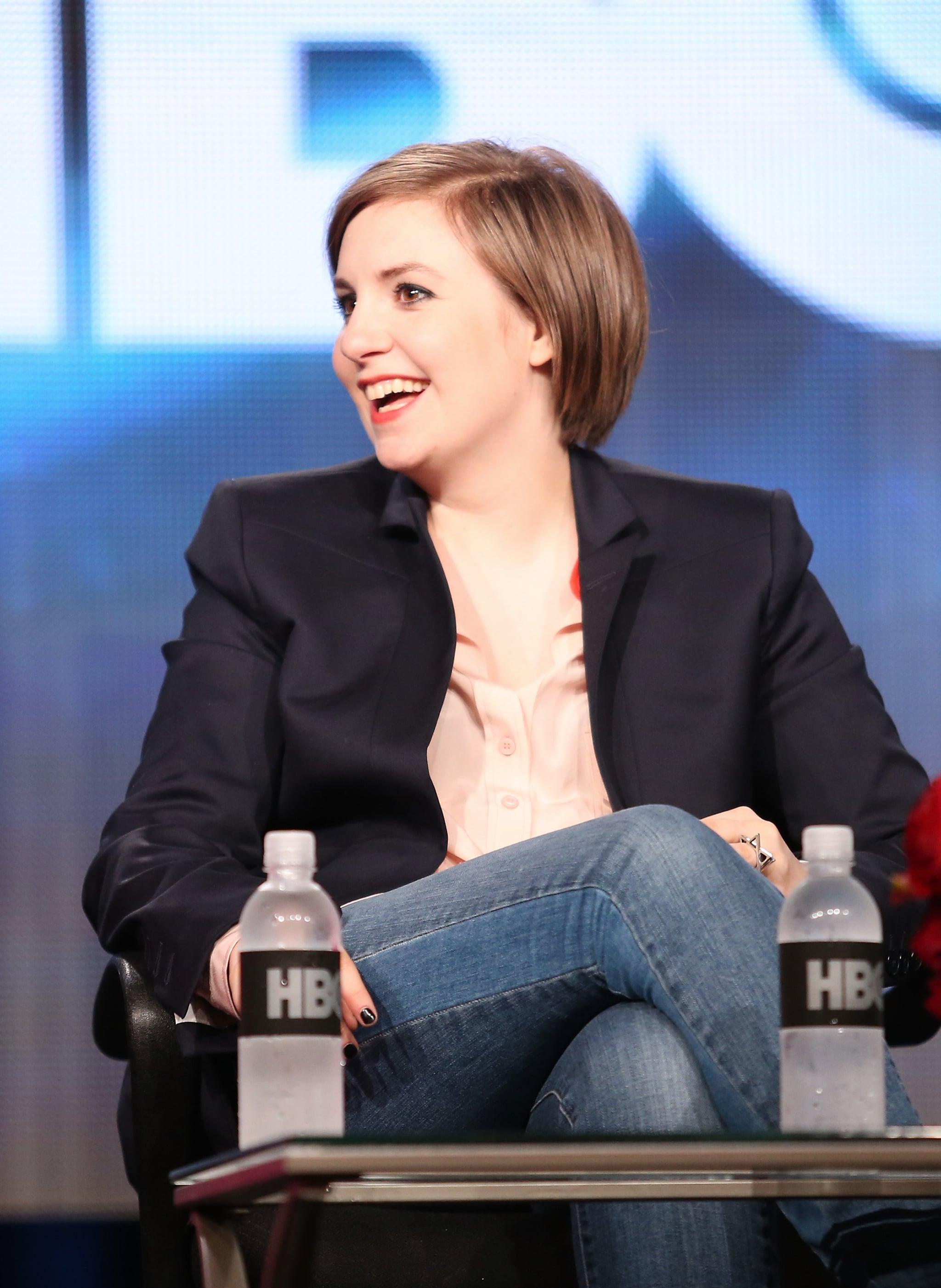 Lena Dunham attended the panel for Girls.