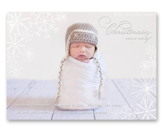 Four Harp Designs Christmas Came Early Photo Cards