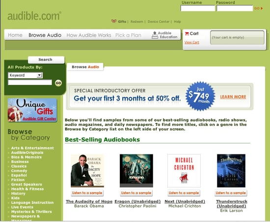 Website of the Day: Audible.com