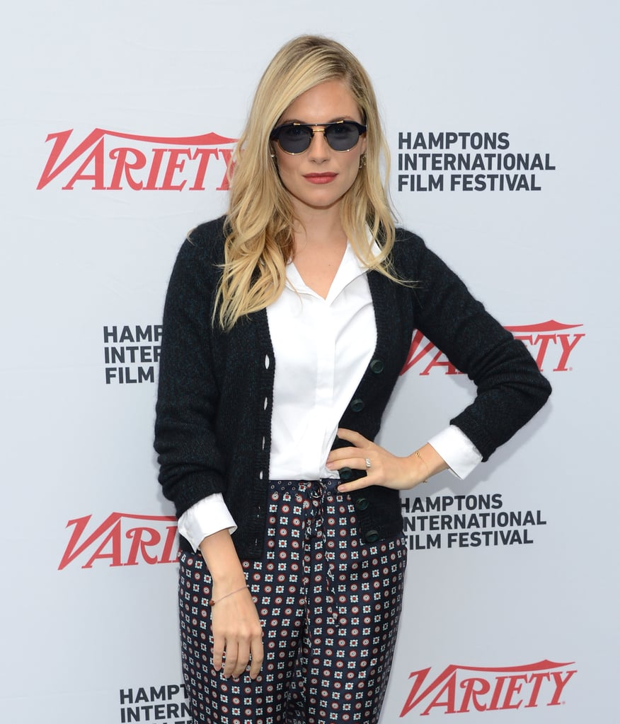 Sienna Miller attended the Variety Performers brucnh at the Hamptons International Film Festival.