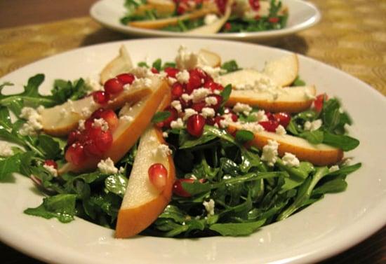 Fit's Healthy Valentine's Dinner: Arugula-Pomegranate Salad