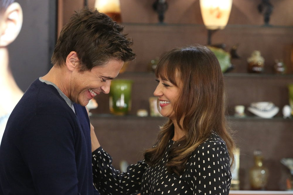 Chris (Rob Lowe) and Ann (Rashida Jones) seem really in love again.