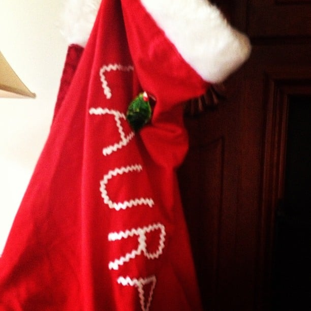 Laura Dundovic's mum still hangs up her Christmas stocking every year. Source: Instagram user lauradundovic