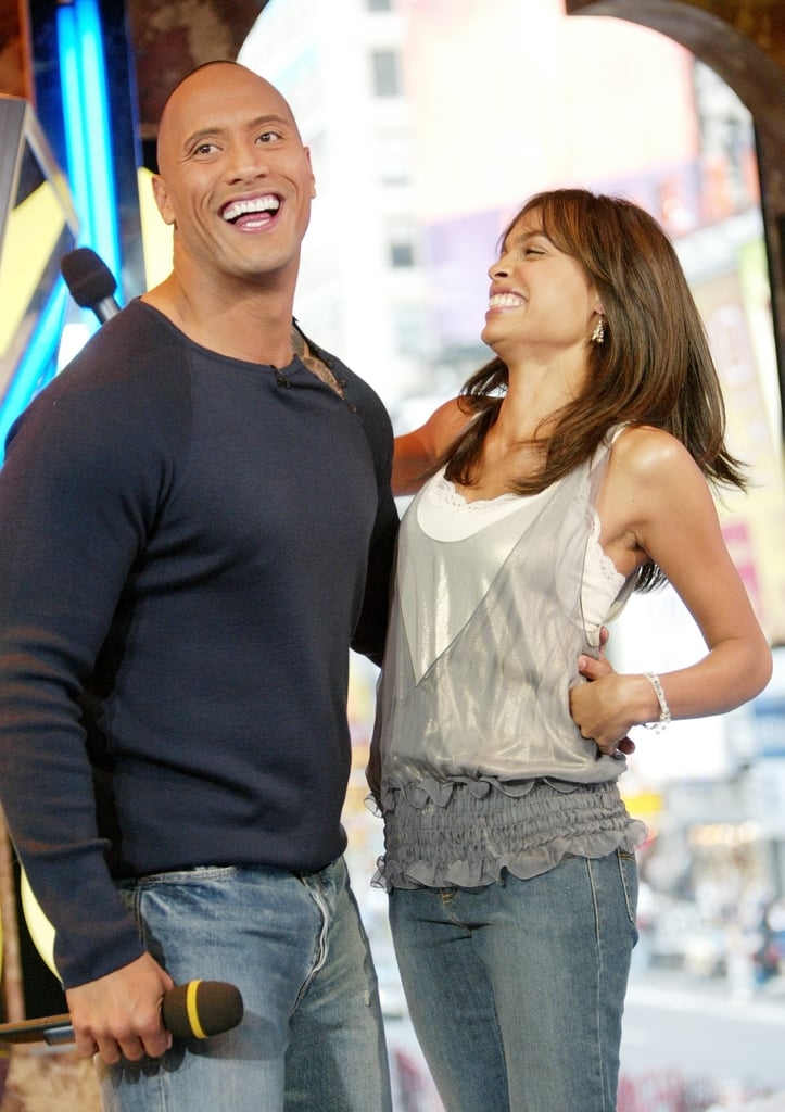The Rock and Rosario Dawson had a joint appearance on TRL in 2003.