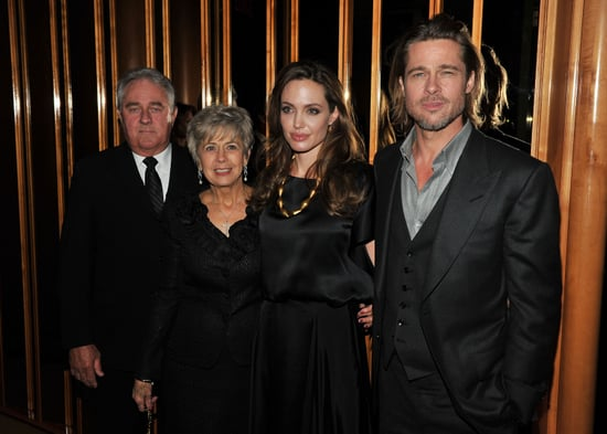 Angelina Jolie and Brad Pitt posed for a photo with his parents in NYC.
