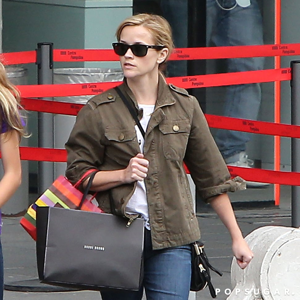 Reese Witherspoon carried shopping bags around Paris.