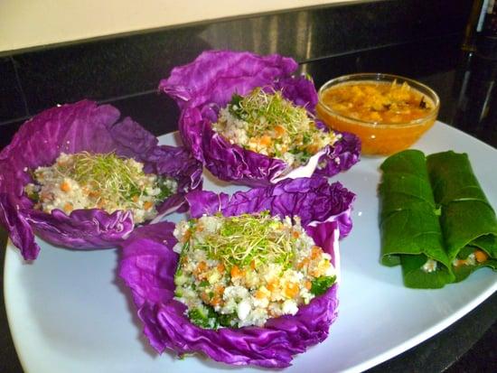"Raw Mexican Cauliflower ""Rice"""