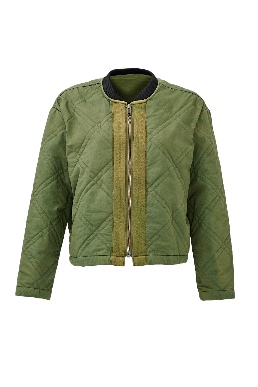 Free People Green Quilted Bomber ($45)