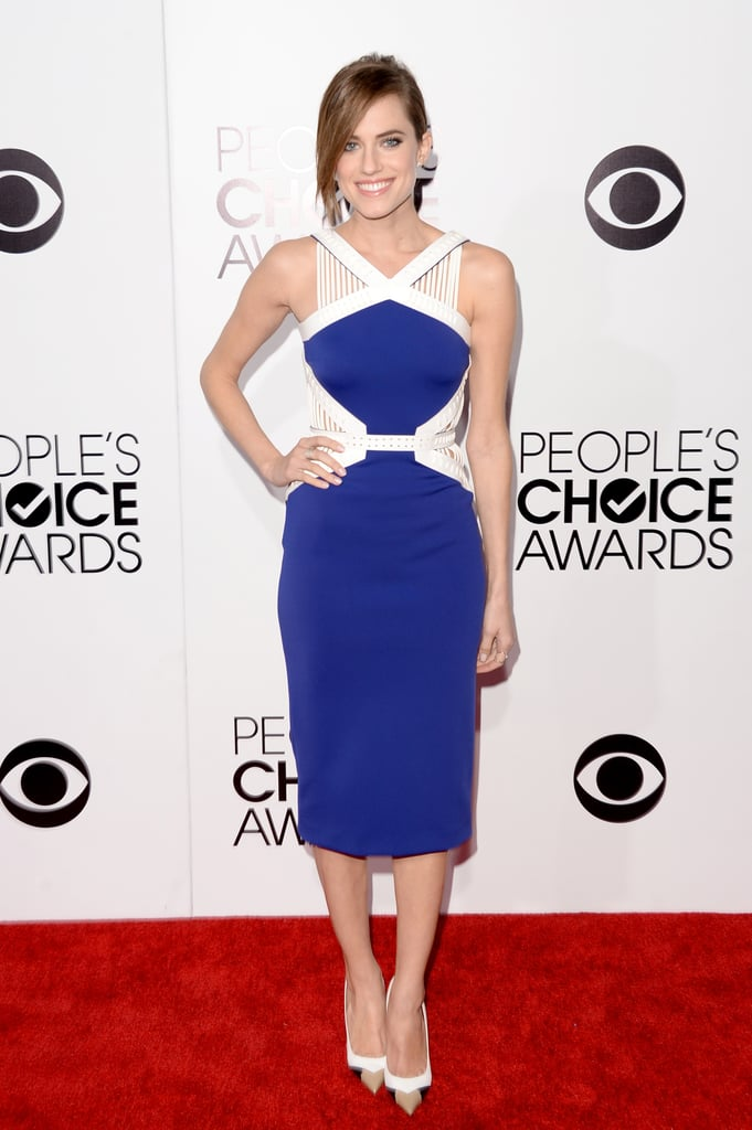 Girls star Allison Williams was a vision in her colorblock dress at the People's Choice Awards.