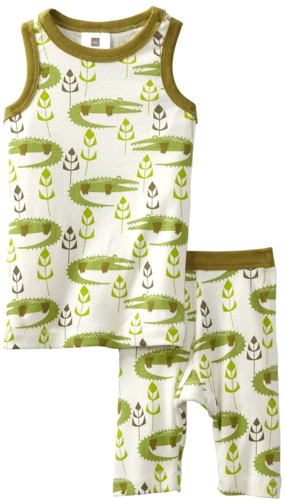 Soft and durable, these cotton PJs ($29) will keep him cool at night.