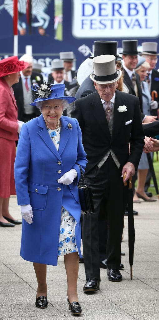 Queen Elizabeth and Prince Philip walked at the Diamond Jubilee Derby.