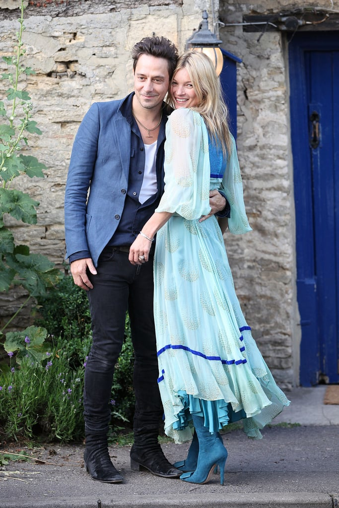 Kate and Jamie were a vision in blue for their wedding preparation ceremony in London in July 2011.