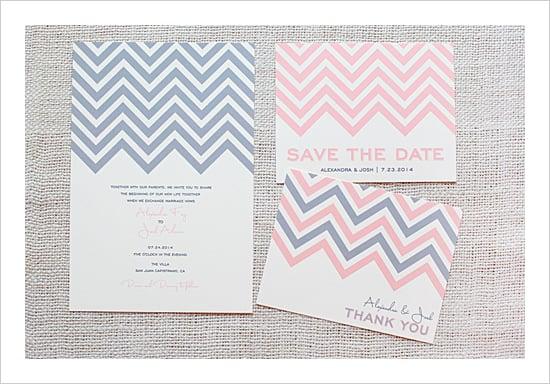 Chevron Wedding Invitation