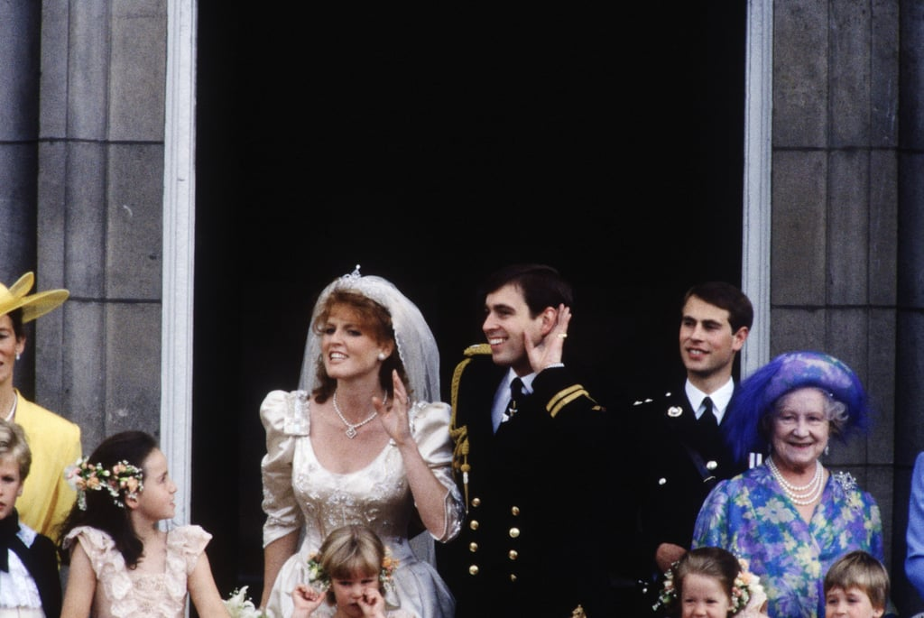 Prince Andrew and Sarah Ferguson   The Bride: Sarah Ferguson, who had worked in PR and publishing. The Groom: Prince Andrew, the second-youngest son of Queen Elizabeth II. When: March 17, 1986. They divorced on May 30, 1996. Where: Westminster Abbey.