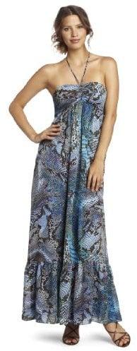 Anne Klein Women's Petite Python Print Maxi Dress