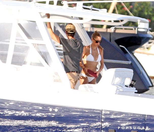 Anna Kournikova wore a bikini during a boat trip with Enrique Iglesias.