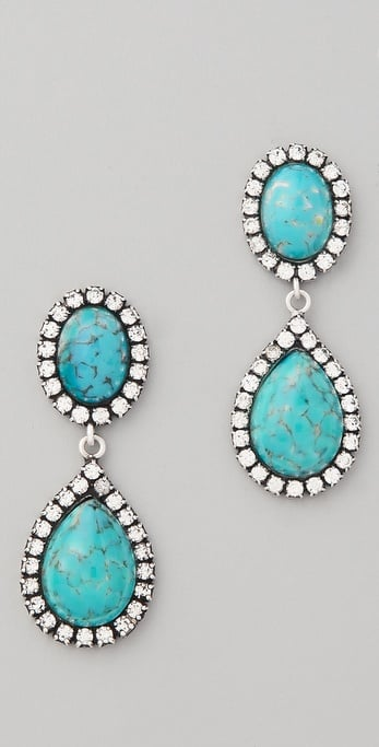 These statement jewels could take you from beach wedding to black-tie nuptials.  Dannijo Cash Earrings ($260)
