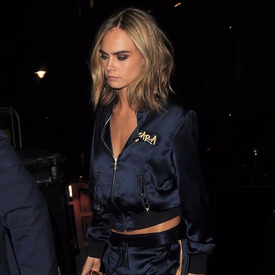 Cara Delevingne and Margot Robbie's Matching Tracksuits