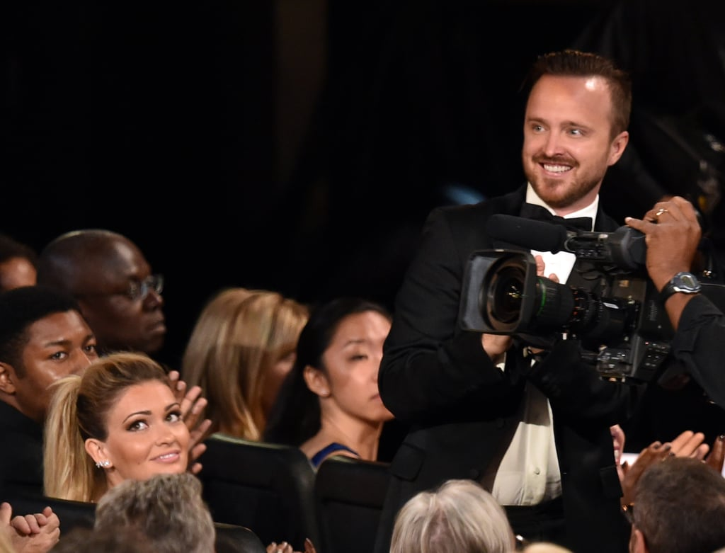 Aaron Paul clapped for Anna Gunn when she won.
