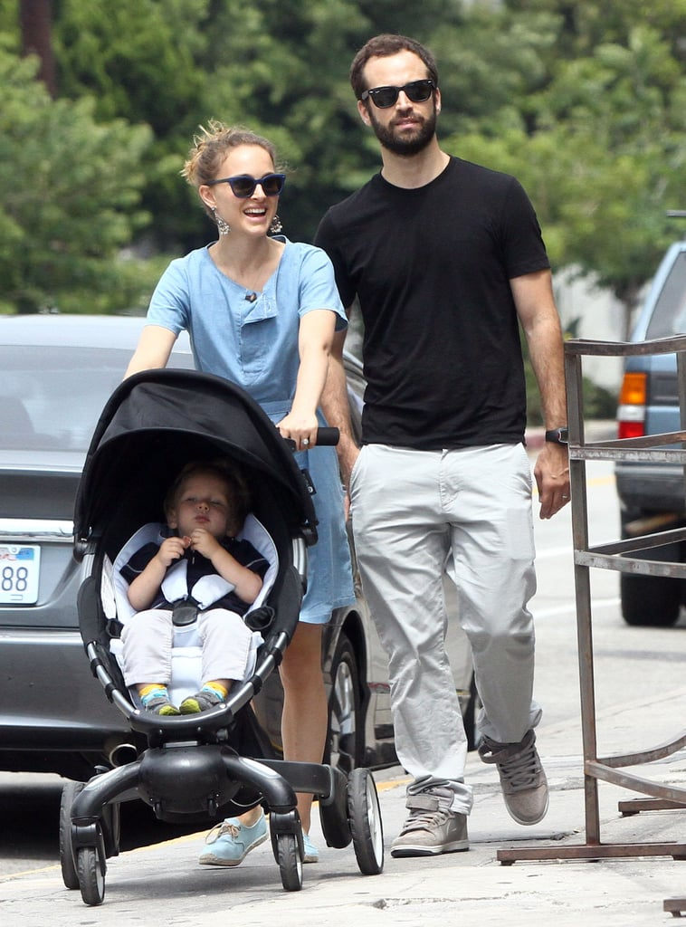Natalie Portman and her husband, Benjamin Millepied, took their son, Aleph, for a walk in LA.