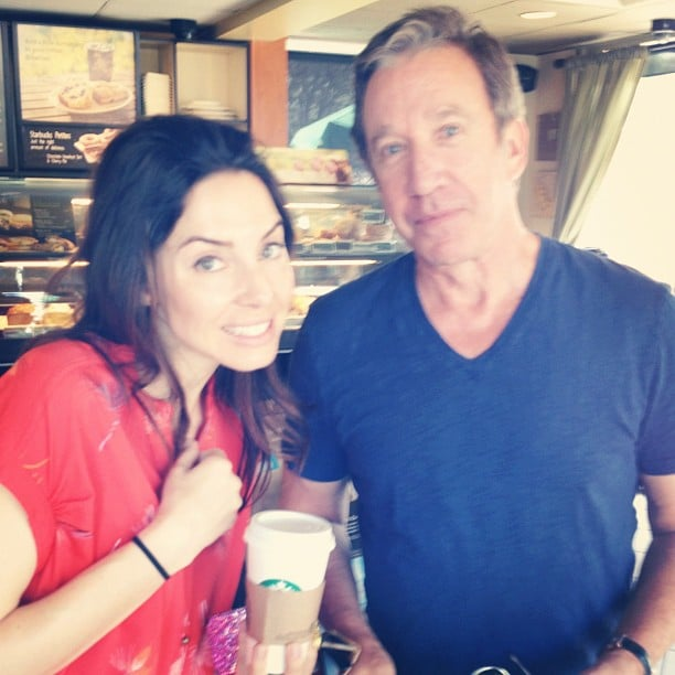 Whitney Cummings ran into Tim Allen.  Source: Instagram user therealwhitney
