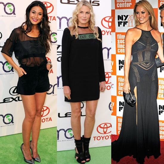The Black Sheer Trend on Emmanuelle Chriqui, Stacy Keibler and Daryl Hannah