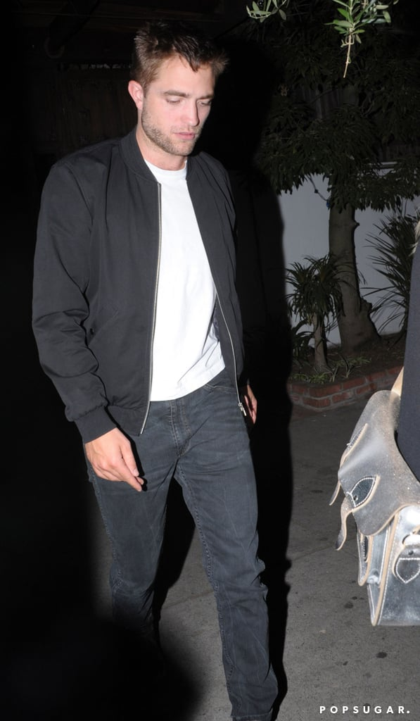 Robert Pattinson Sports Scruff During His Night Out With a Mystery Blonde