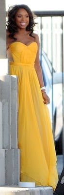 Jennifer Hudson in Yellow Maria Lucia Hohan Gown