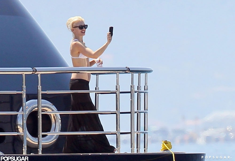 Gwen Stefani snapped a photo of the view from her yacht in Cannes in May 2011.