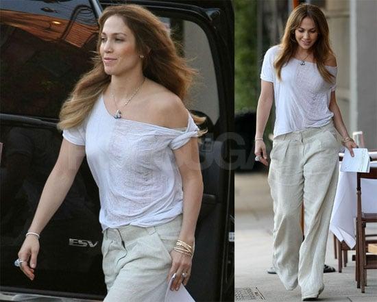 Jennifer Lopez on Set