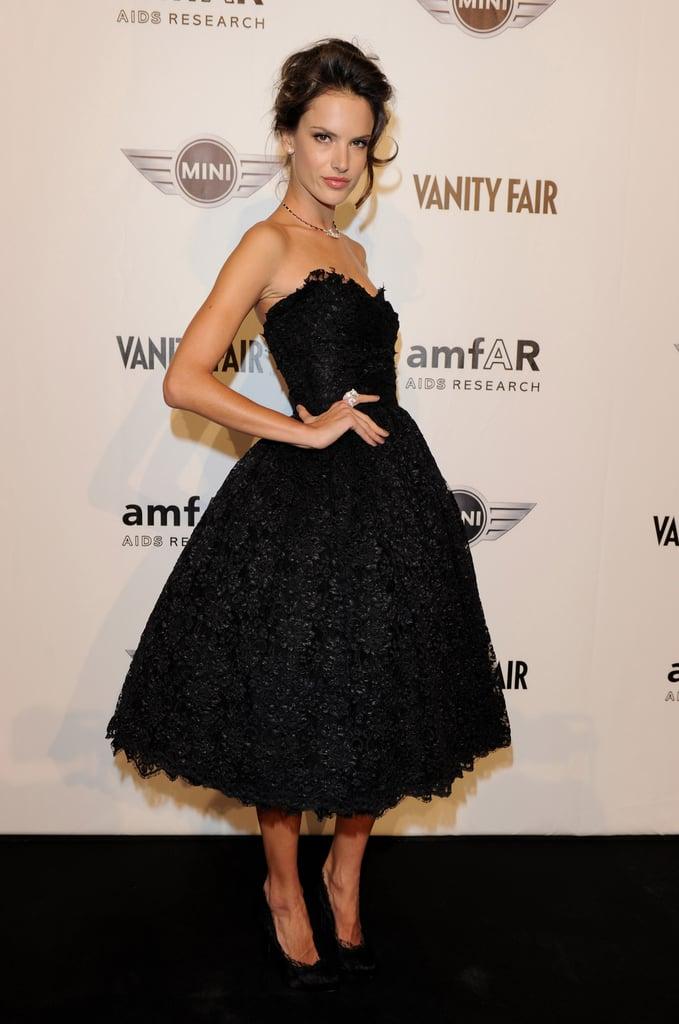 Alessandra in fabulously femme black lace.