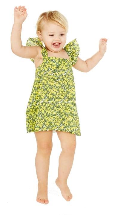 Lemon Blossom Ruffle Dress With Bow ($39)